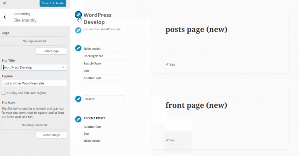 visible edits in wordpress 4.7