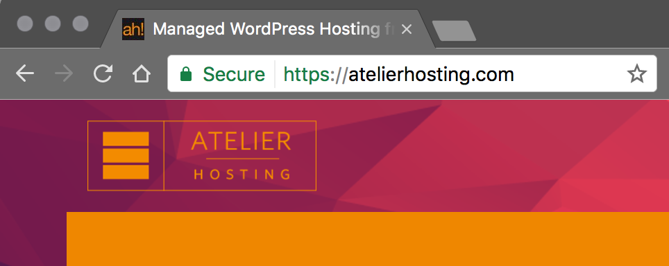 SSL secured site from Atelier Hosting